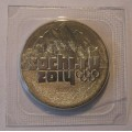25 рублей. Эмблема XXII Олимпийских зимних игр 2014 года в г. Сочи
